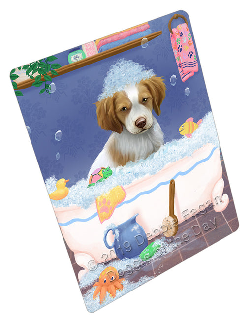 Rub A Dub Dog In A Tub Brittany Spaniel Dog Refrigerator / Dishwasher Magnet RMAG108912