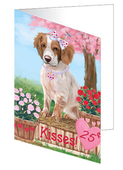 Rosie 25 Cent Kisses Brittany Spaniel Dog Note Card NCD73760