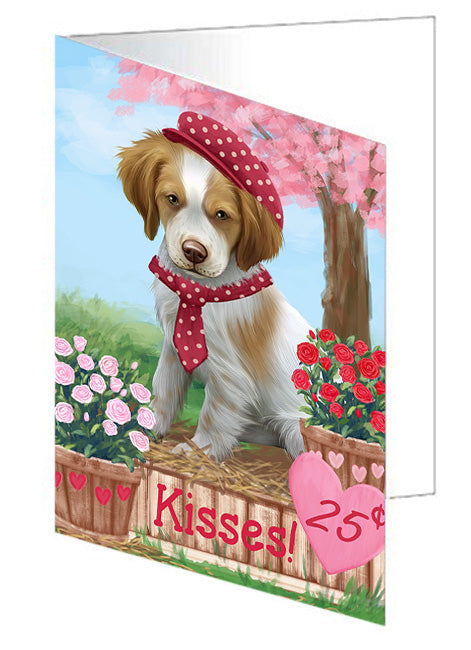 Rosie 25 Cent Kisses Brittany Spaniel Dog Note Card NCD73763