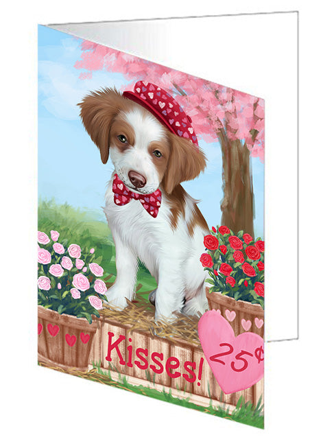 Rosie 25 Cent Kisses Brittany Spaniel Dog Note Card NCD73766