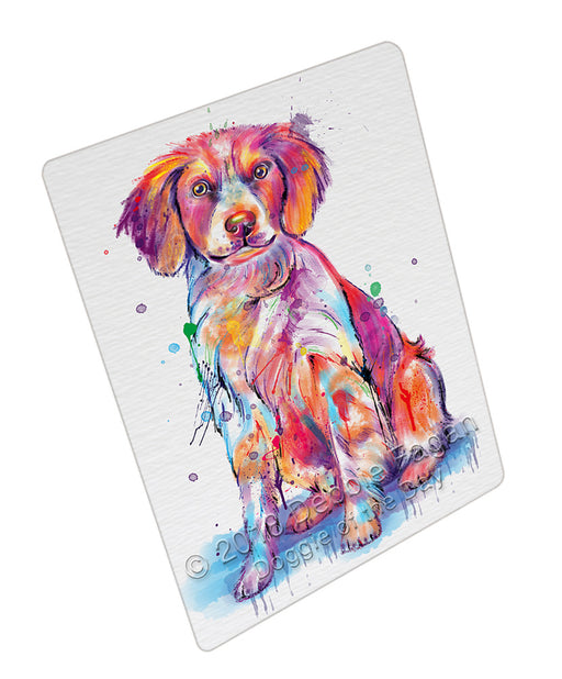 Watercolor Brittany Spaniel Dog Refrigerator / Dishwasher Magnet RMAG104874