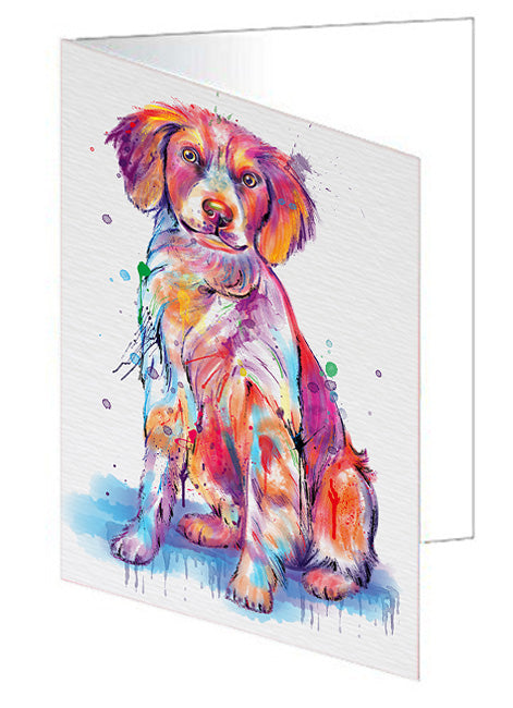 Watercolor Brittany Spaniel Dog Note Card NCD76745