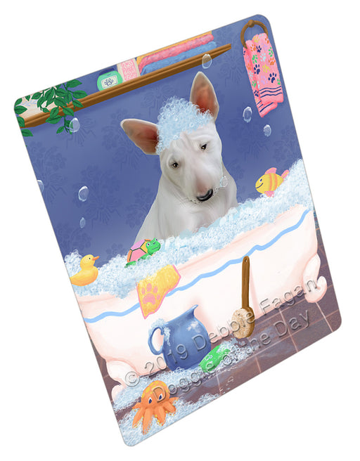 Rub A Dub Dog In A Tub Bull Terrier Dog Refrigerator / Dishwasher Magnet RMAG108918