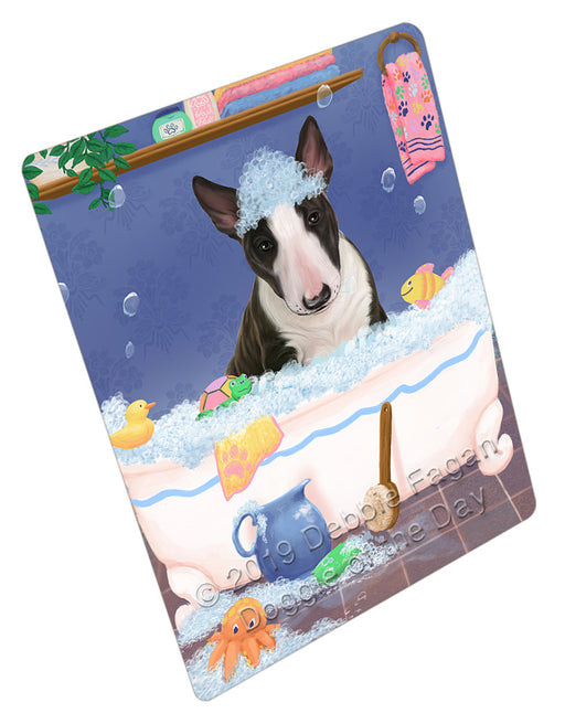 Rub A Dub Dog In A Tub Bull Terrier Dog Refrigerator / Dishwasher Magnet RMAG108924