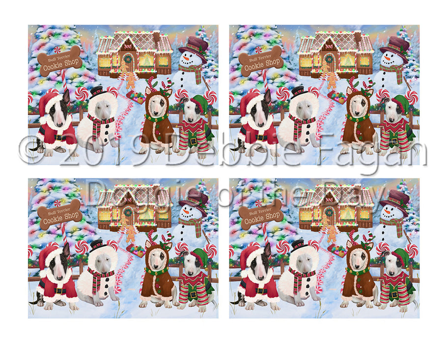 Holiday Gingerbread Cookie Bull Terrier Dogs Placemat