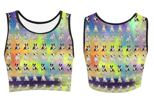 Paradise Wave Bull Terrier Dogs Women's Crop Top