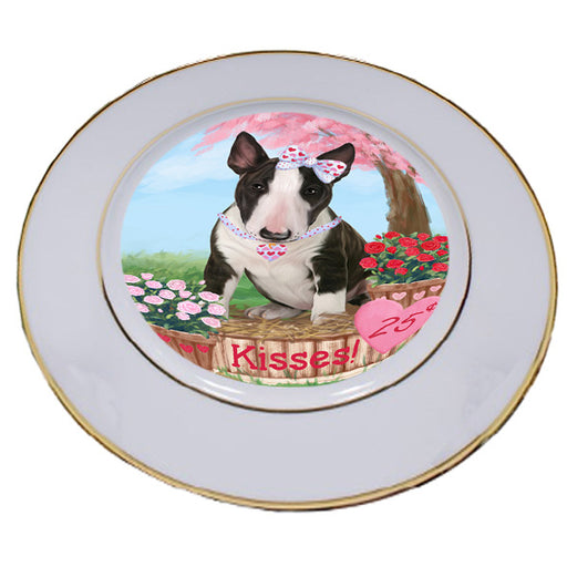 Rosie 25 Cent Kisses Bull Terrier Dog Porcelain Plate PLT54767