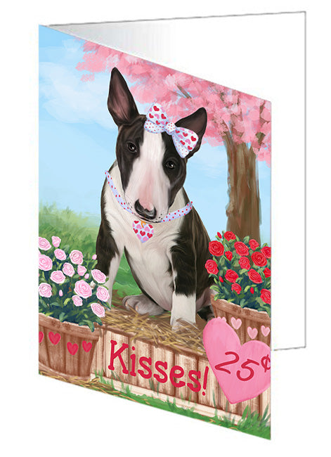 Rosie 25 Cent Kisses Bull Terrier Dog Note Card NCD73769