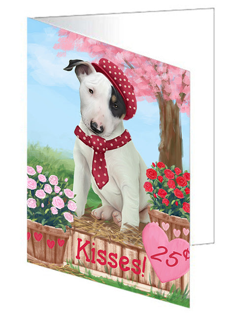 Rosie 25 Cent Kisses Bull Terrier Dog Note Card NCD73772