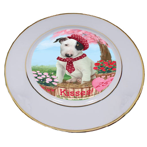 Rosie 25 Cent Kisses Bull Terrier Dog Porcelain Plate PLT54768