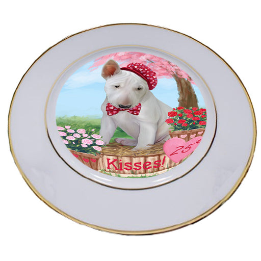 Rosie 25 Cent Kisses Bull Terrier Dog Porcelain Plate PLT54769