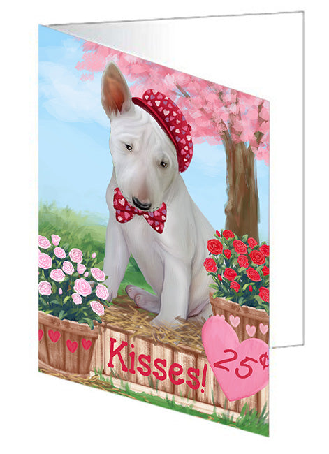 Rosie 25 Cent Kisses Bull Terrier Dog Note Card NCD73775