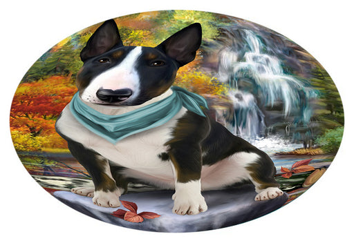 Scenic Waterfall Bull Terrier Dog Oval Envelope Seals OVE63384