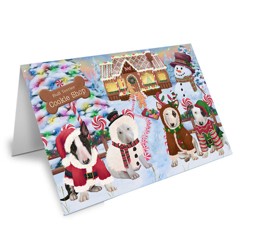 Holiday Gingerbread Cookie Shop Bull Terriers Dog Note Card NCD73673