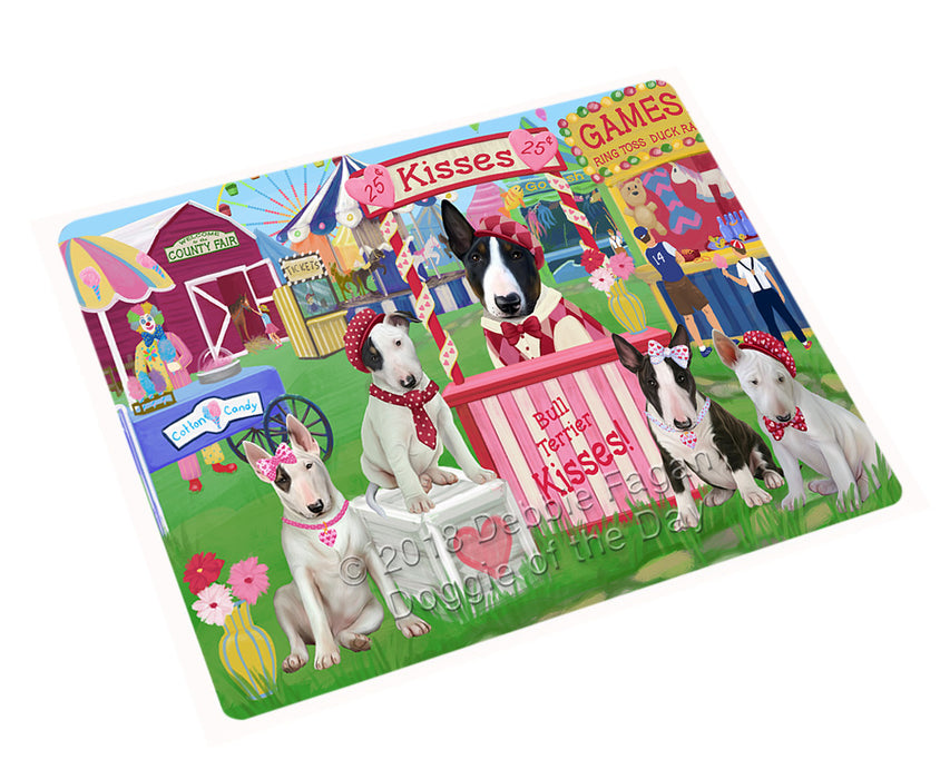 Carnival Kissing Booth Bull Terriers Dog Cutting Board C73977