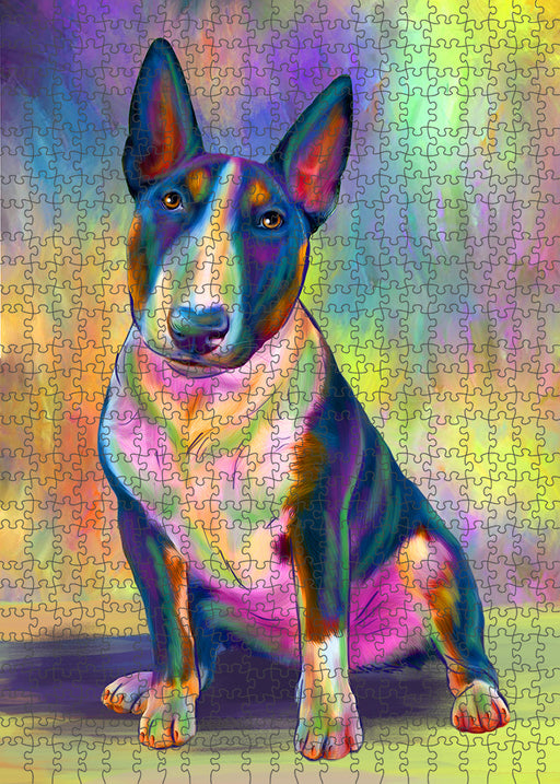 Paradise Wave Bull Terrier Dog Puzzle with Photo Tin PUZL94988