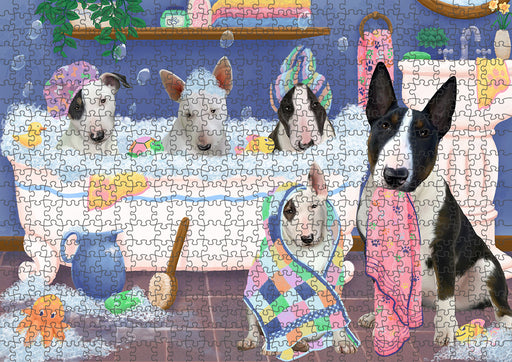 Rub A Dub Dogs In A Tub Bull Terriers Dog Puzzle with Photo Tin PUZL95296