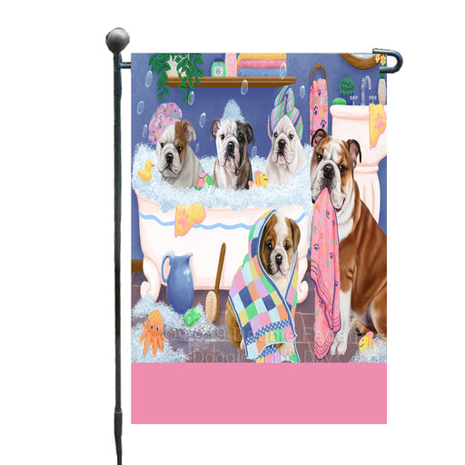 Personalized Rub A Dub Dogs In A Tub Bulldogs Custom Garden Flag GFLG64862