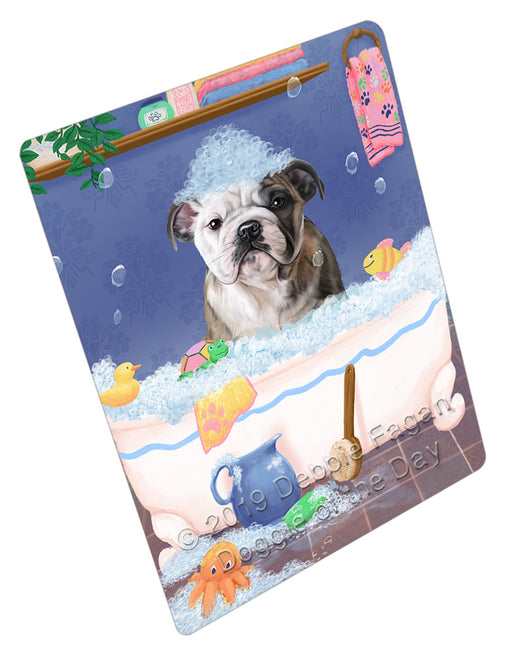 Rub A Dub Dog In A Tub Bulldog Refrigerator / Dishwasher Magnet RMAG108930