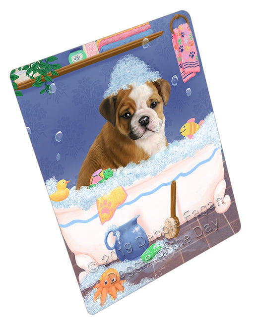 Rub A Dub Dog In A Tub Bulldog Refrigerator / Dishwasher Magnet RMAG108936