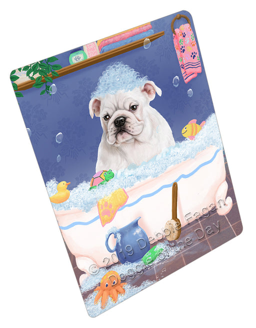 Rub A Dub Dog In A Tub Bulldog Refrigerator / Dishwasher Magnet RMAG108942