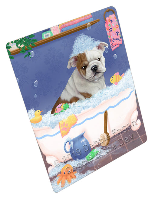 Rub A Dub Dog In A Tub Bulldog Refrigerator / Dishwasher Magnet RMAG108948