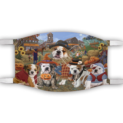 Halloween 'Round Town Bulldog Dogs Face Mask FM49939