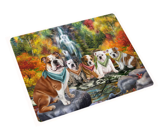 Scenic Waterfall Bulldogs Cutting Board C54510
