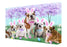 Bulldog Easter Holiday Canvas Wall Art CVS57342