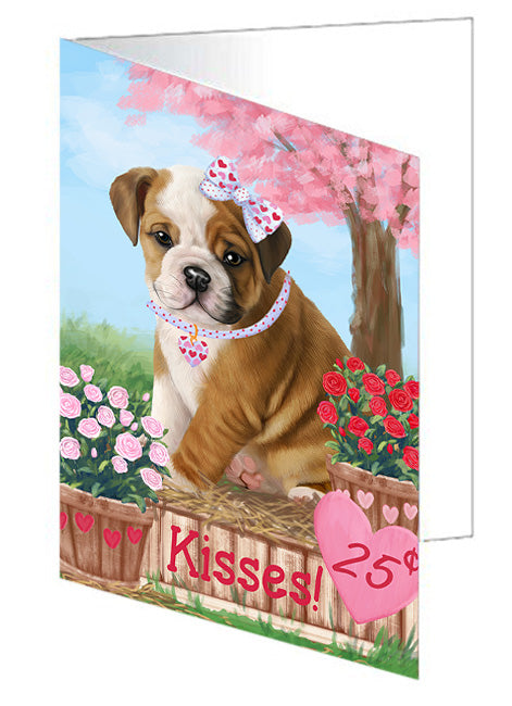 Rosie 25 Cent Kisses Bulldog Note Card NCD73778