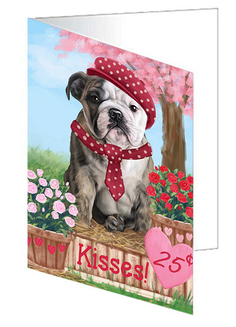 Rosie 25 Cent Kisses Bulldog Note Card NCD73781