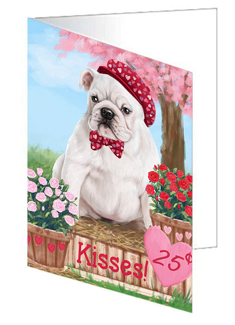 Rosie 25 Cent Kisses Bulldog Note Card NCD73784