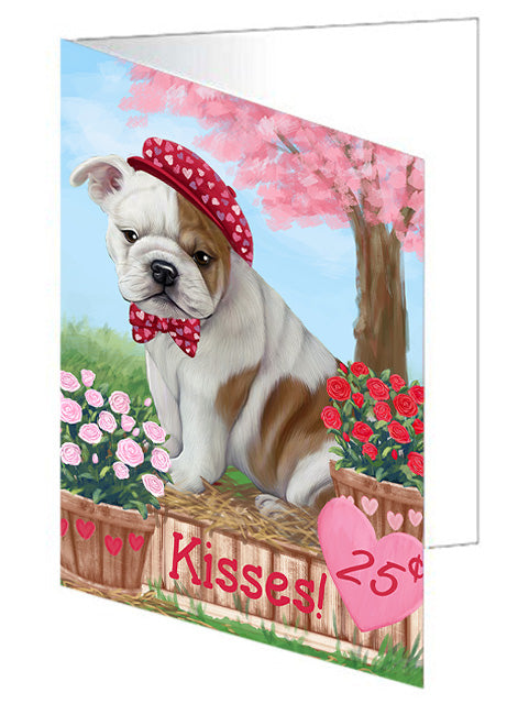 Rosie 25 Cent Kisses Bulldog Note Card NCD73787