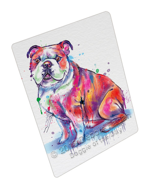 Watercolor Bulldog Refrigerator / Dishwasher Magnet RMAG104880