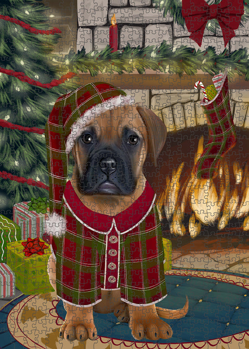 The Stocking was Hung Bullmastiff Dog Puzzle with Photo Tin PUZL89228