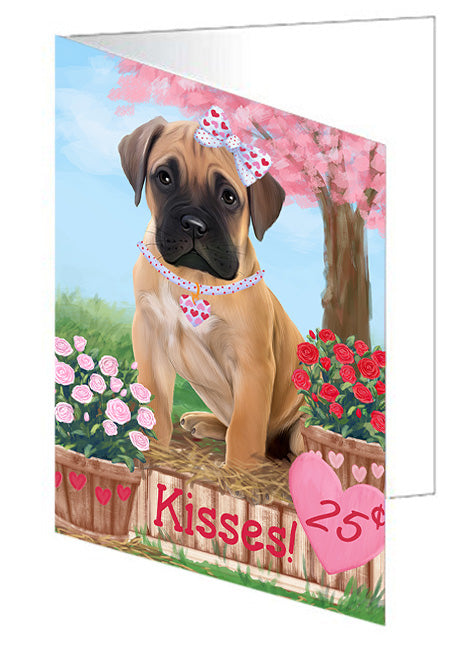 Rosie 25 Cent Kisses Bullmastiff Dog Note Card NCD73790