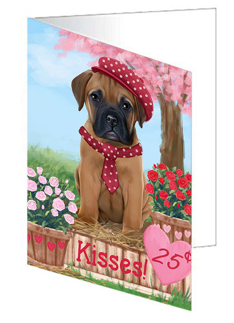 Rosie 25 Cent Kisses Bullmastiff Dog Note Card NCD73793