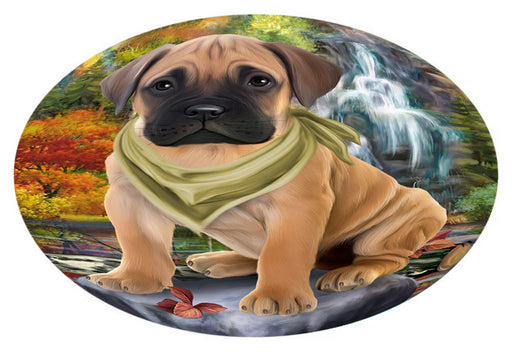 Scenic Waterfall Bullmastiff Dog Oval Envelope Seals OVE63396