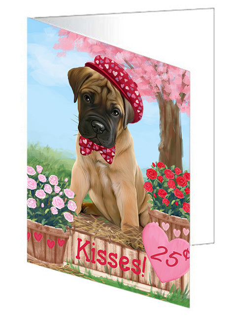 Rosie 25 Cent Kisses Bullmastiff Dog Note Card NCD73796
