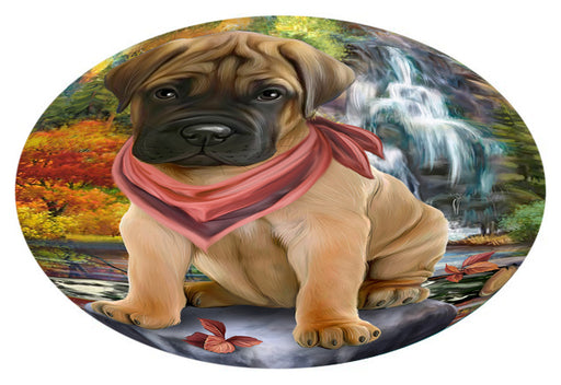 Scenic Waterfall Bullmastiff Dog Oval Envelope Seals OVE63400