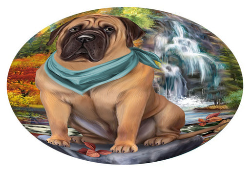 Scenic Waterfall Bullmastiff Dog Oval Envelope Seals OVE63408