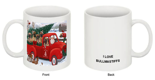 Christmas Santa Express Delivery Bullmastiffs Dog Family Coffee Mug MUG50421
