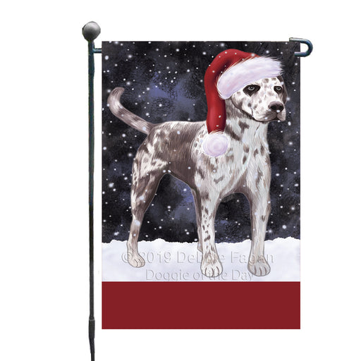 Personalized Let It Snow Happy Holidays Catahoula Leopard Dog Custom Garden Flags GFLG-DOTD-A62305