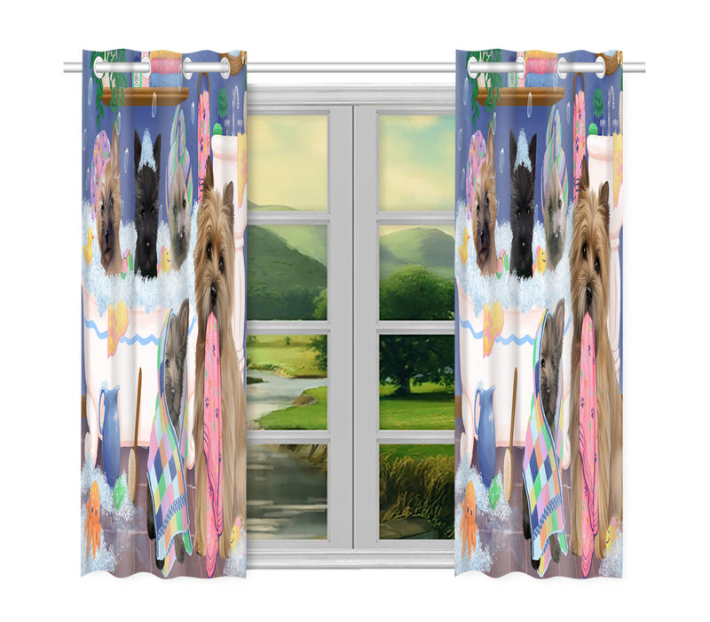 Rub A Dub Dogs In A Tub Cairn Terrier Dogs Window Curtain