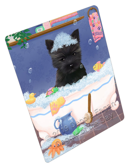 Rub A Dub Dog In A Tub Cairn Terrier Dog Refrigerator / Dishwasher Magnet RMAG108966