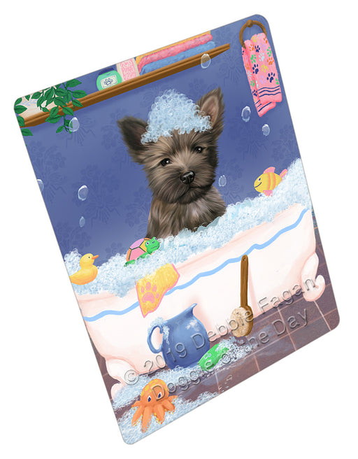 Rub A Dub Dog In A Tub Cairn Terrier Dog Refrigerator / Dishwasher Magnet RMAG108972
