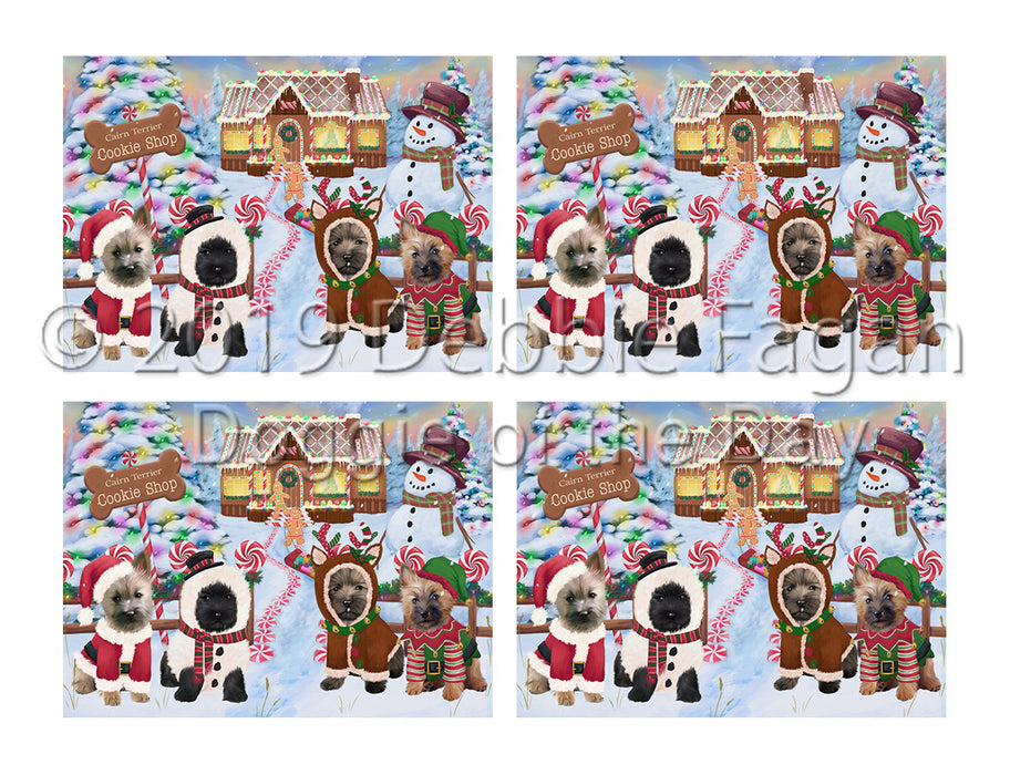 Holiday Gingerbread Cookie Cairn Terrier Dogs Placemat