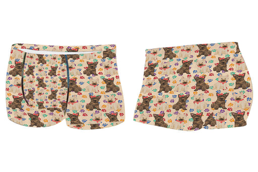 Rainbow Paw Print Cairn Terrier Dogs RedMen's All Over Print Boxer Briefs