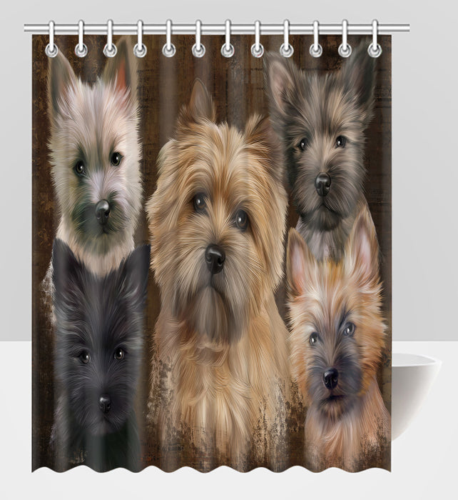 Rustic Cairn Terrier Dogs Shower Curtain