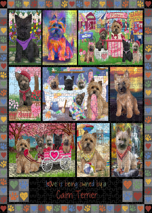 Love is Being Owned Cairn Terrier Dog Grey Puzzle with Photo Tin PUZL98352